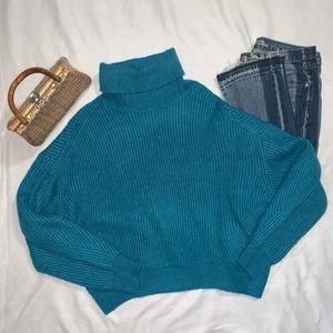 H&M | Balloon Sleeve Turtleneck Sweater